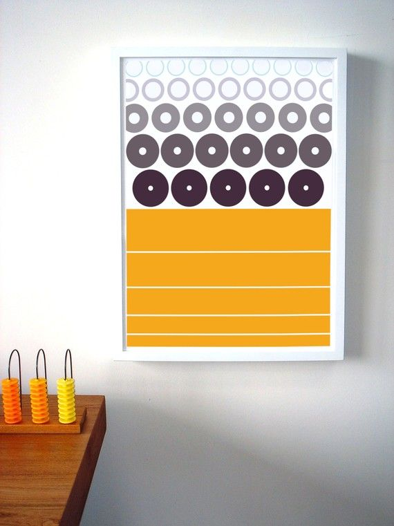 Geometrics Poster Print (UNFRAMED) | Yellow dining room, Color ...
