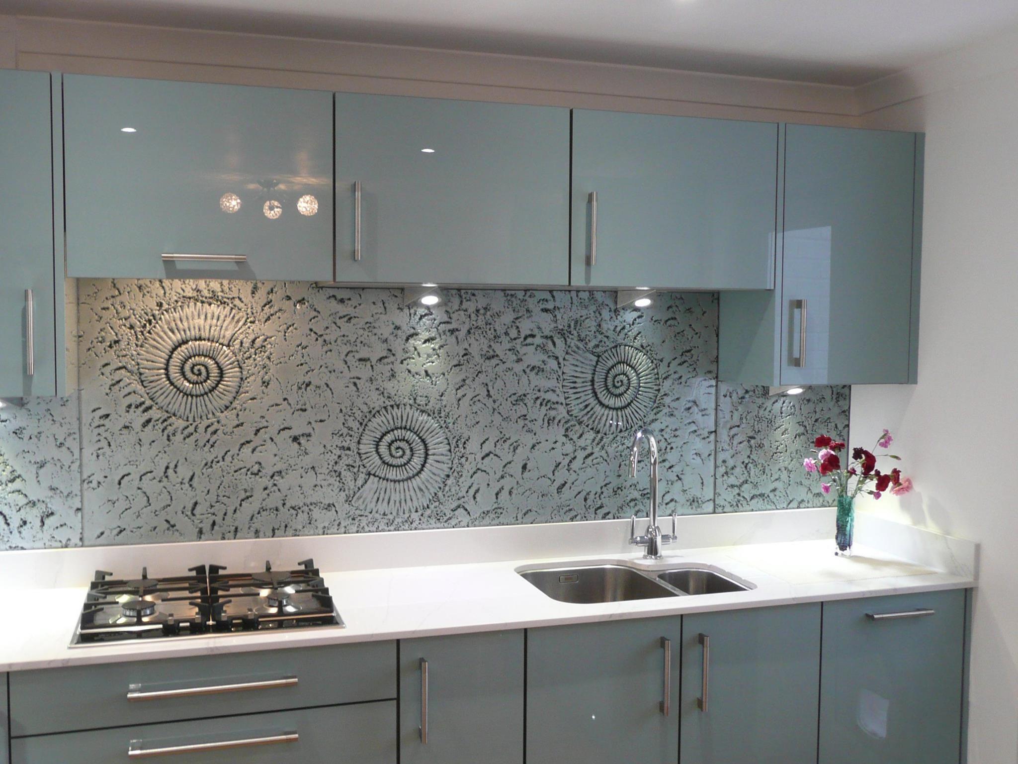 Another Image Of Our Phoenix Metallic Blue Gloss Door Kitchen