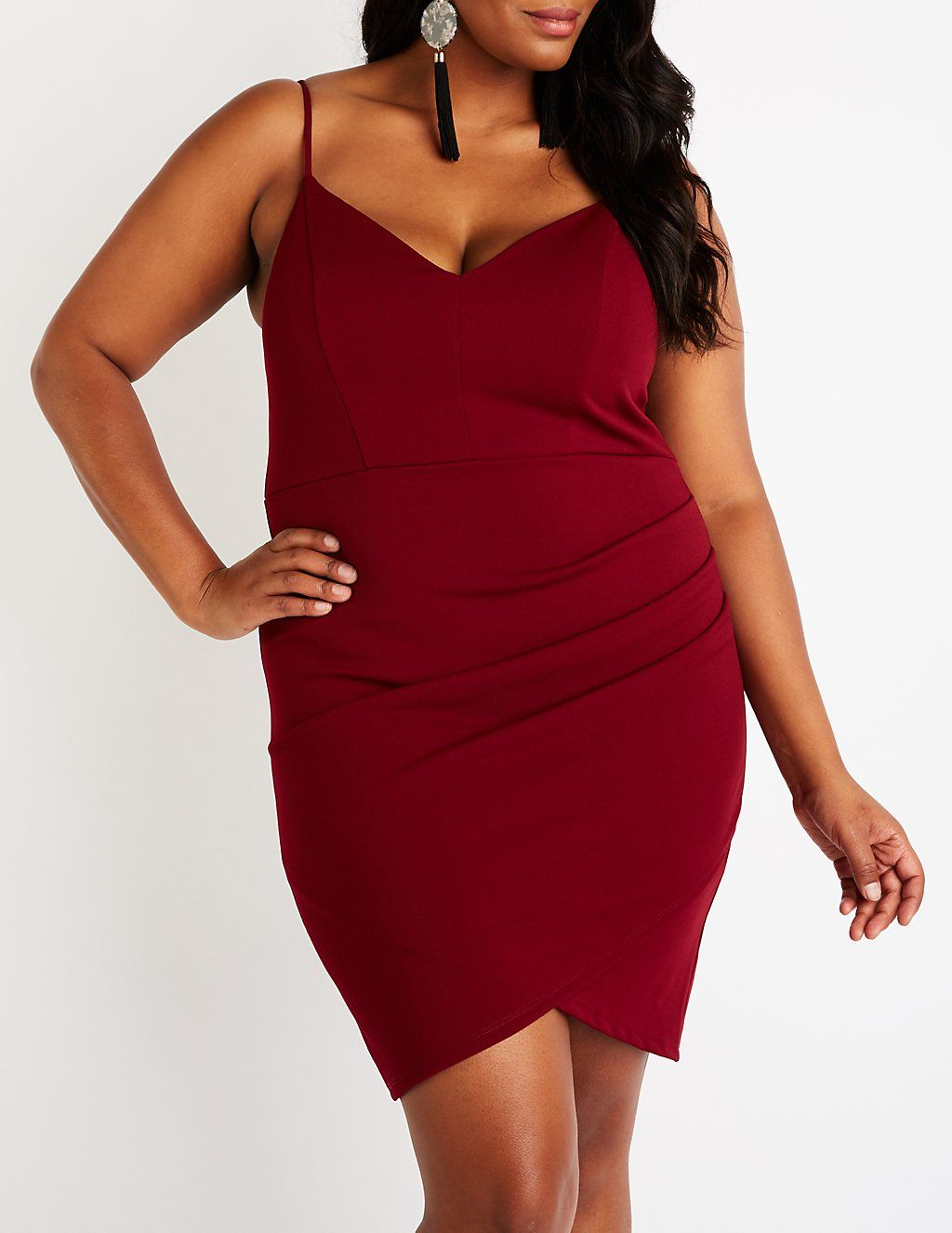Plus Size V-Neck Bodycon Dress | Charlotte Russe | Plus Evening Wear ...