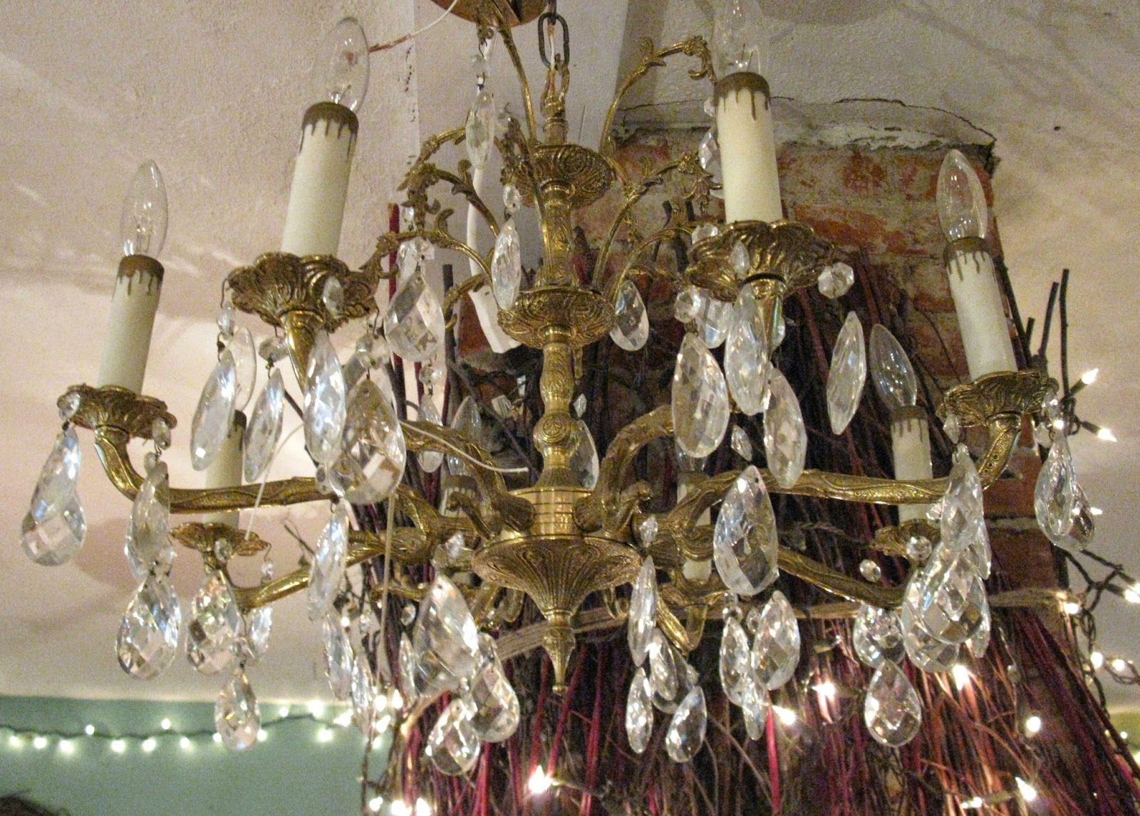 Spread the sparkle! Always chandeliers at Sisters Garden!