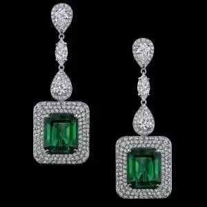 Robert Procop Exceptional Jewels Long Emerald Earrings- Master jewelry designer and gem expert Robert Procop is revealing his newest Platinum jewelry designs from his Exceptional Jewels gem collection. The collection is comprised of only the finest natural gemstones, all no treatment, set in Platinum. Each piece is expertly and precision set by master artisans.