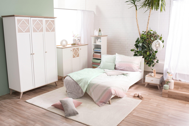 Bettwäsche in Pastellfarben Bett gestalten im