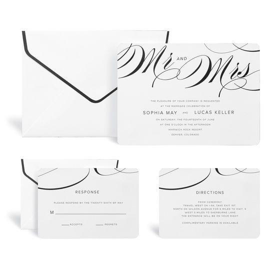 Mr Mrs Wedding Invitation Kit By Celebrate It Products