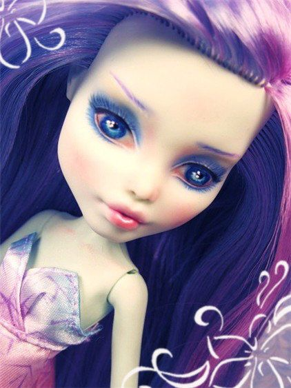 Tutorial Monster Doll High Repainting Learn Face Ups Pastels Watercolor Pencils Repaint W Acrylics Hair Techniqu Doll Repaint Custom Barbie Monster Dolls