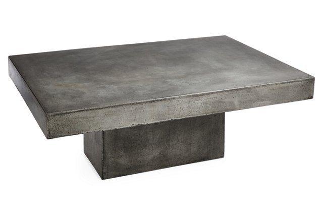 Eva 48 Coffee Table Gray Concrete Coffee Table Concrete