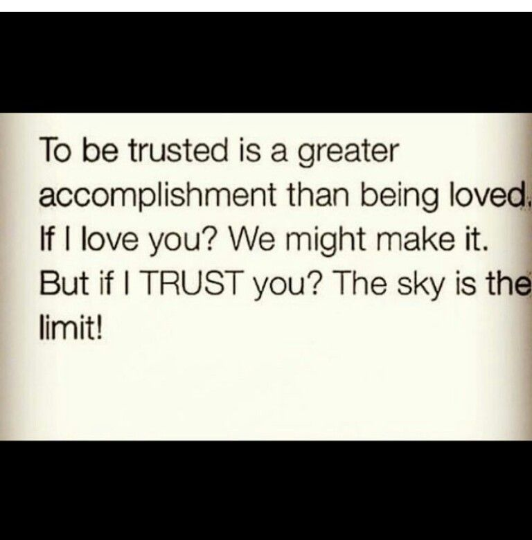 i love u trust me