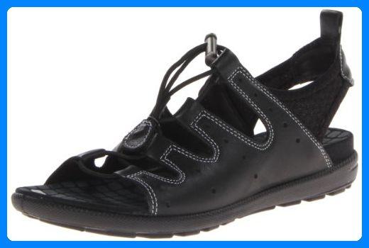 Ecco Jab Sandal Black/Black Feather/Tex/Sole 238013 Damen Slipper, Schwarz (BLACK/BLACK 51707), EU 39 - Slipper und mokassins für frauen (*Partner-Link)