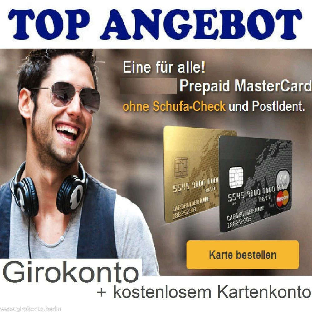 girokonto konto mastercard ohne schufa gratis kartenkonto incl onlinebanking. Black Bedroom Furniture Sets. Home Design Ideas