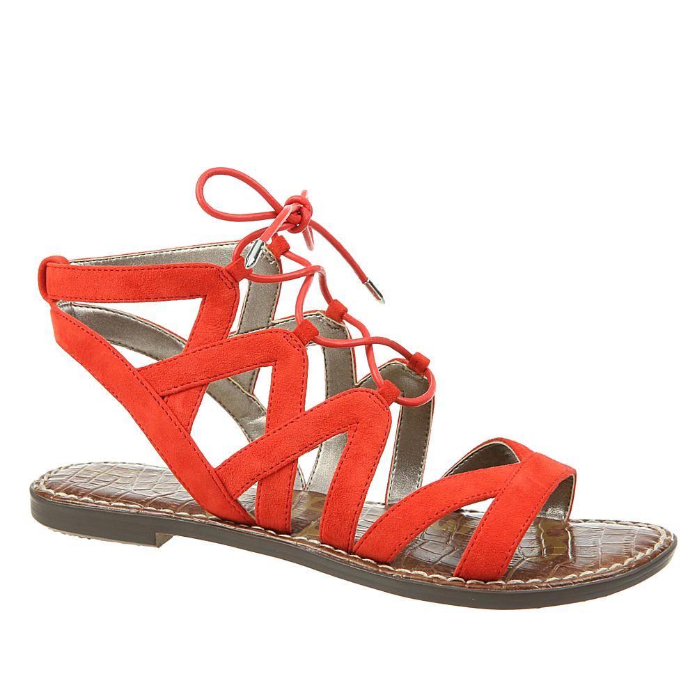 2ad0ab2e6c6a Sam Edelman Gemma Lace-Up Gladiator Sandal - Blood Orange