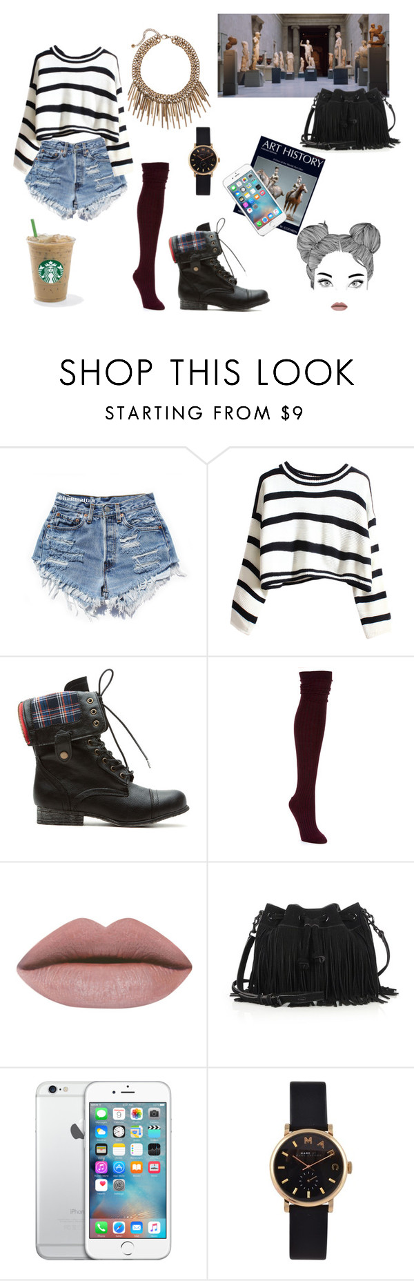 """""""Casual 1"""" by ohlala423 ❤ liked on Polyvore featuring Ravel, Hue, Rebecca Minkoff and Marc by Marc Jacobs"""