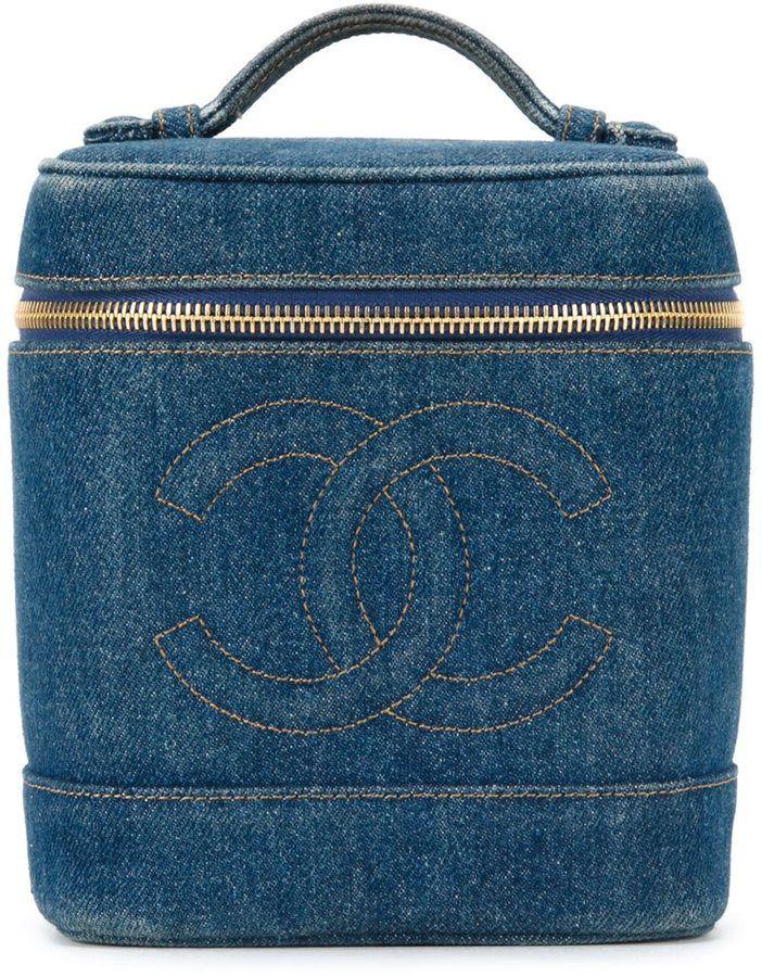 Chanel Vintage logo embossed box bag