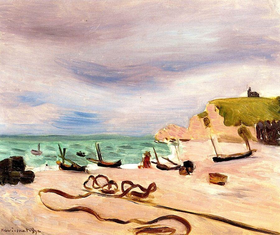 Henri Matisse | Ropes on the Beach at Etretat, circa 1920