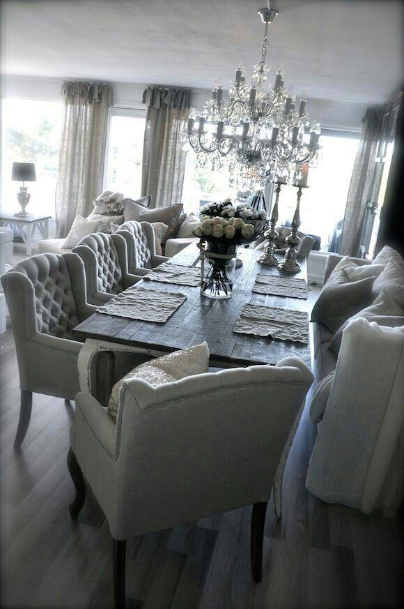 LOVE the chairs!!! #luxurydiningroom luxury dining room