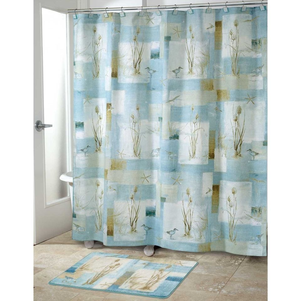 Blue Waters Bath Set 5 pc Coastal Nautical Decor Shower Curtain ON ...