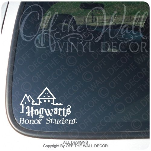 Hogwarts Honor Student Harry Potter Car or Truck Window Laptop Decal Sticker
