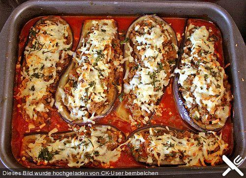 Gefüllte Auberginen auf türkische Art Gefüllte auberginen