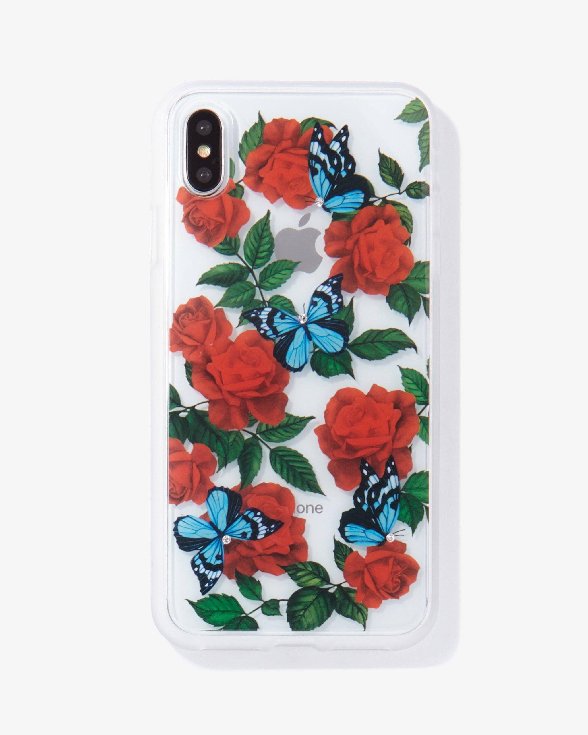Rhinestone Butterfly Garden, iPhone XS Max Iphone