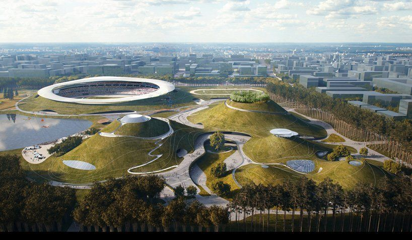 Gallery Of Mad Architects Begins Construction On Mountainous Quzhou Sports Campus In China 3 Landscape Architecture Urban Landscape