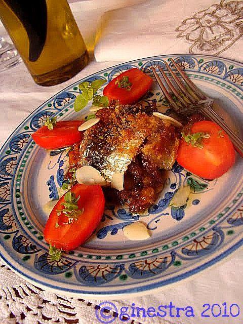 la ginestra e il mare: Piatti siciliani #tortinodisarde