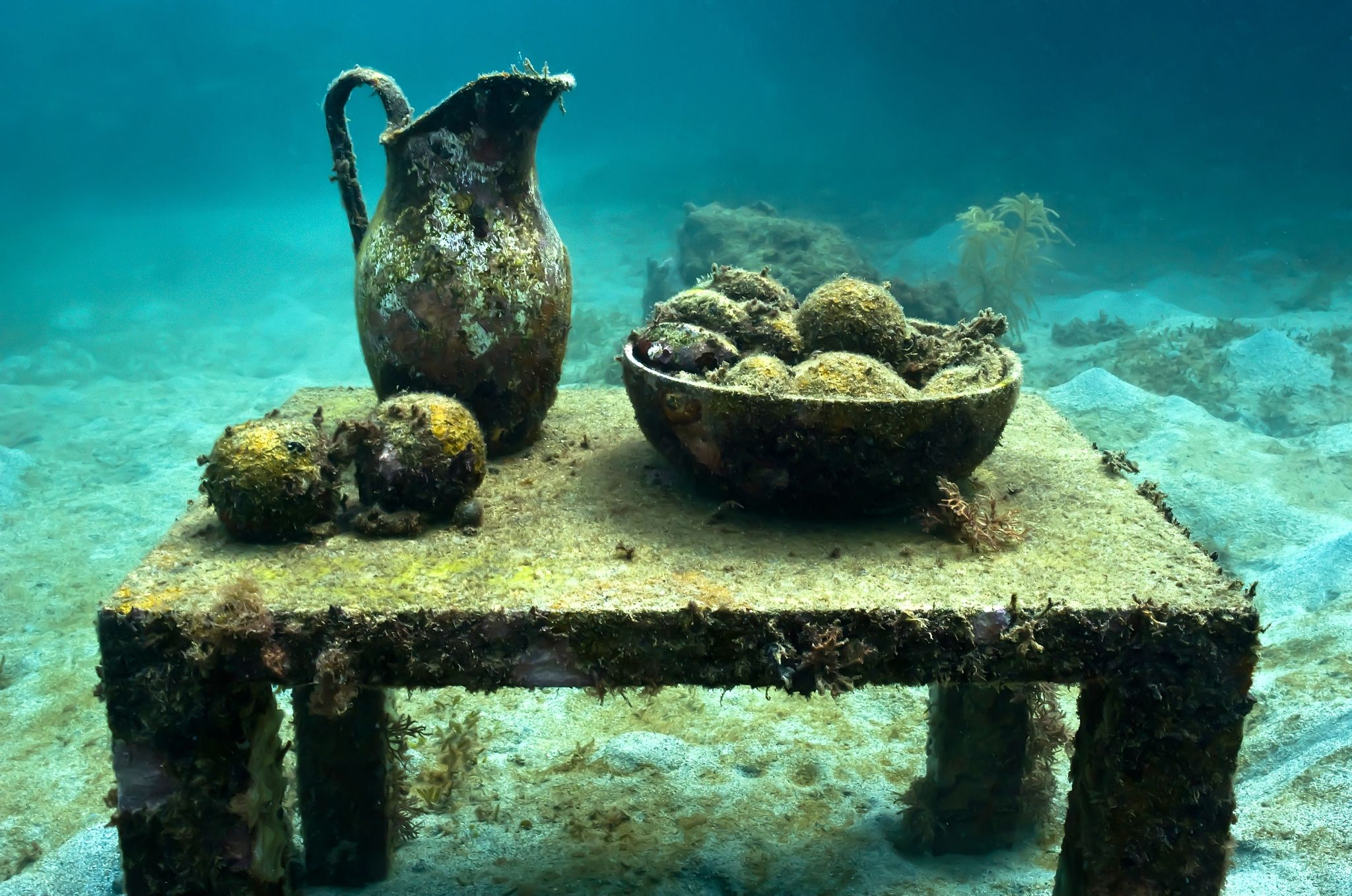 un still life underwater sculpture by jason decaires taylor un still life underwater sculpture by jason decaires taylor