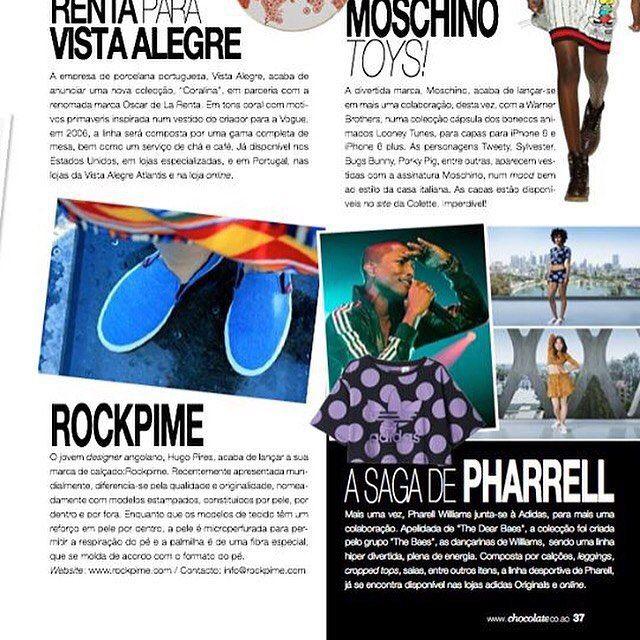 Rockpime na Revista Chocolate de Julho #revistachocolate #rockpime #moda #angola