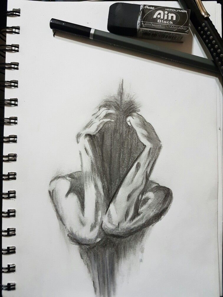 sadness head sad horrible dark sketch blackandwhite drawing