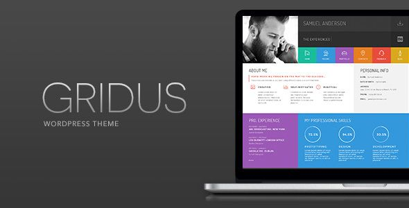 Gridus Vcard  Cv Resume Wordpress  Gridus Has Features Such As