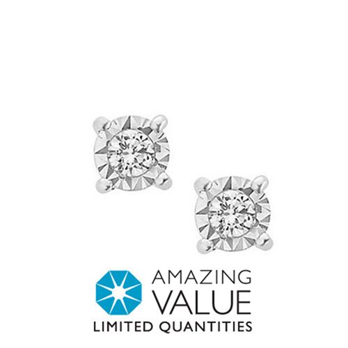 Fred Meyer Jewelers 1 12 Ct Tw Diamond Solitaire Earrings