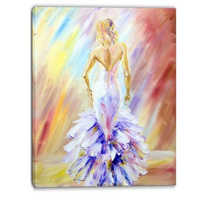 DesignArt At the Ball Portrait Painting Print on Wrapped Canvas Size: