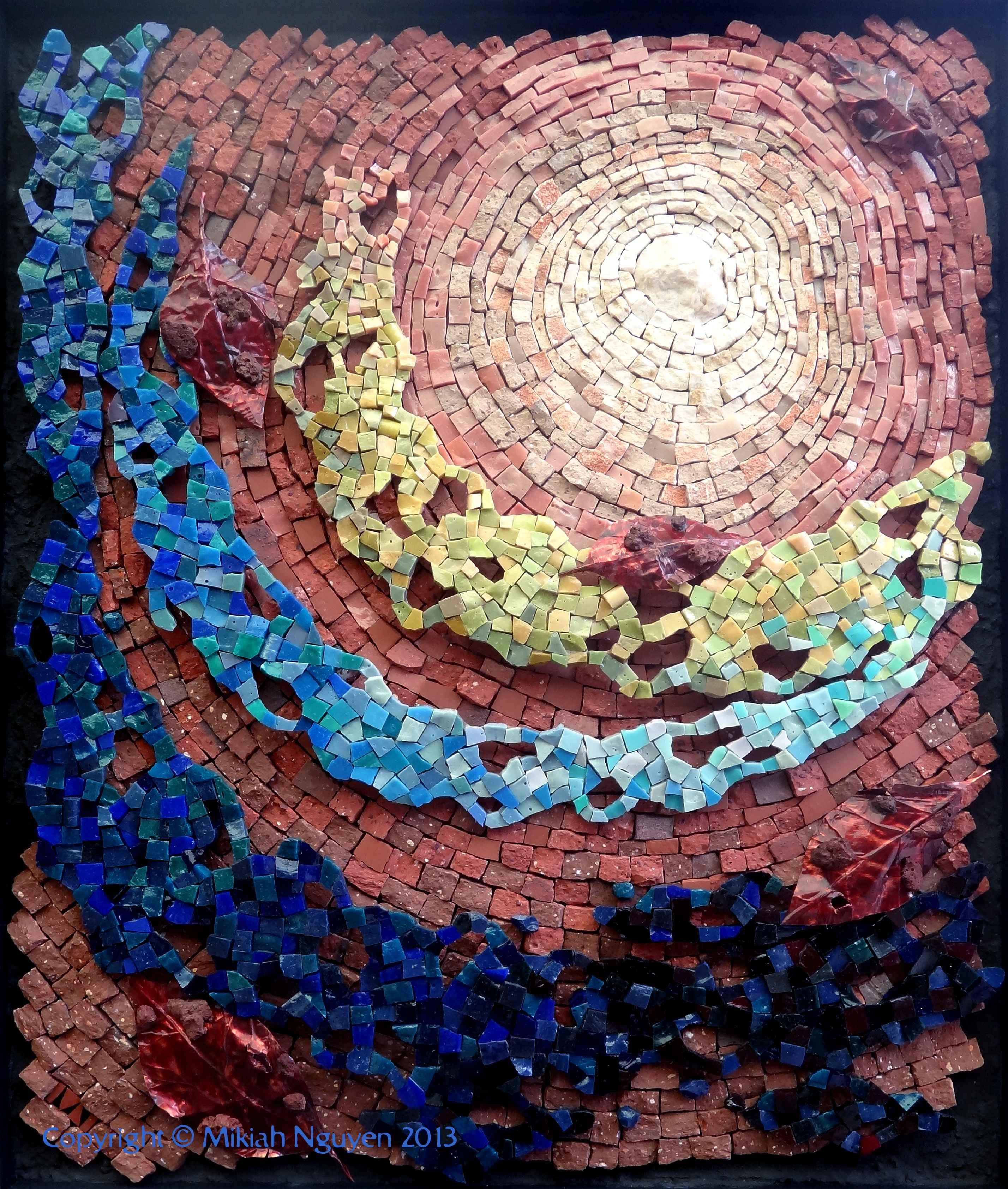 Contemporary Mosaic Art Wall