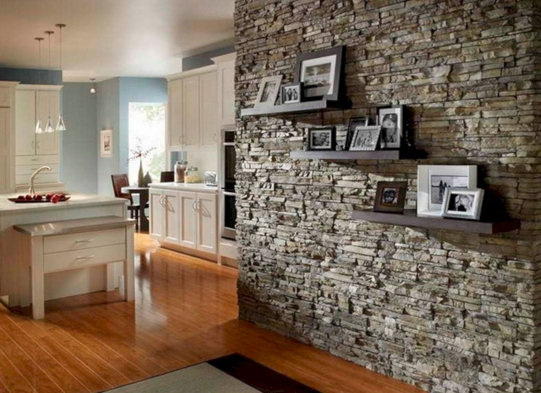 25 Extraordinary Rock Wall Design Ideas For Beautiful Kitchen