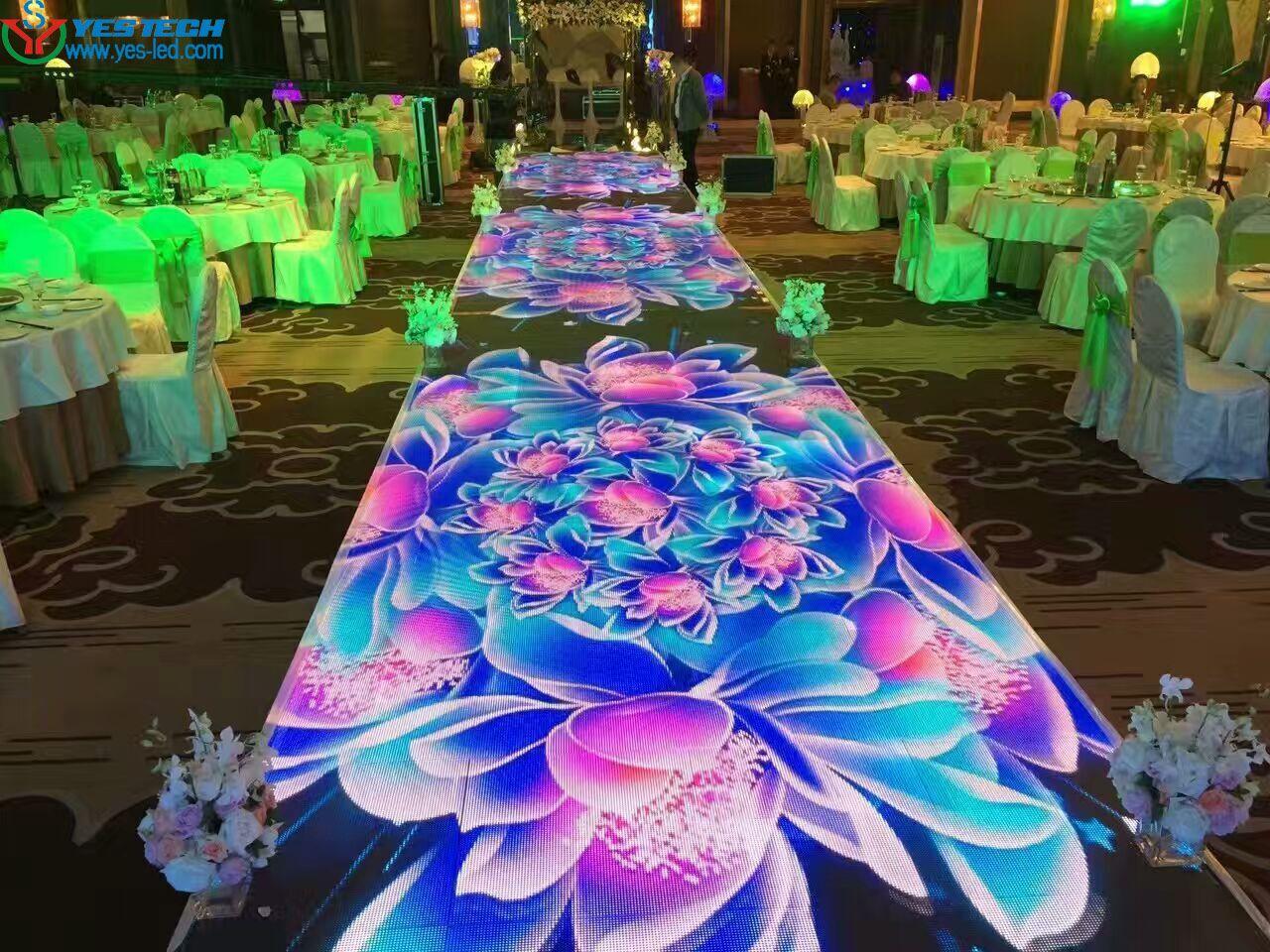 Magic Stage Led Screen Used As Dance Floor In Wedding HD Visual Feast Adjustable