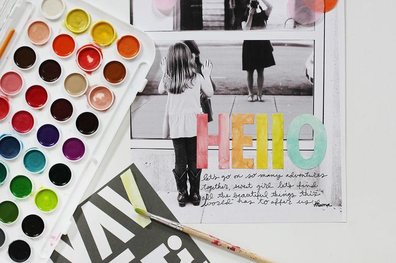 Scrapbook Sunday: Alter Your Alpha Stickers - A Beautiful Mess