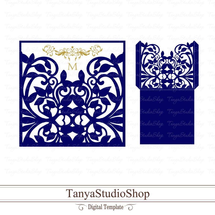 Envelope Template Svg Dxf Ai Crd Eps Card Templates Etsy Silhouette Cameo Cards Envelope Template Card Templates