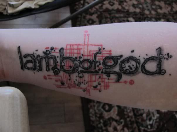 Lamb Of God Logo Metal Tattoo Tattoos Band Tattoo
