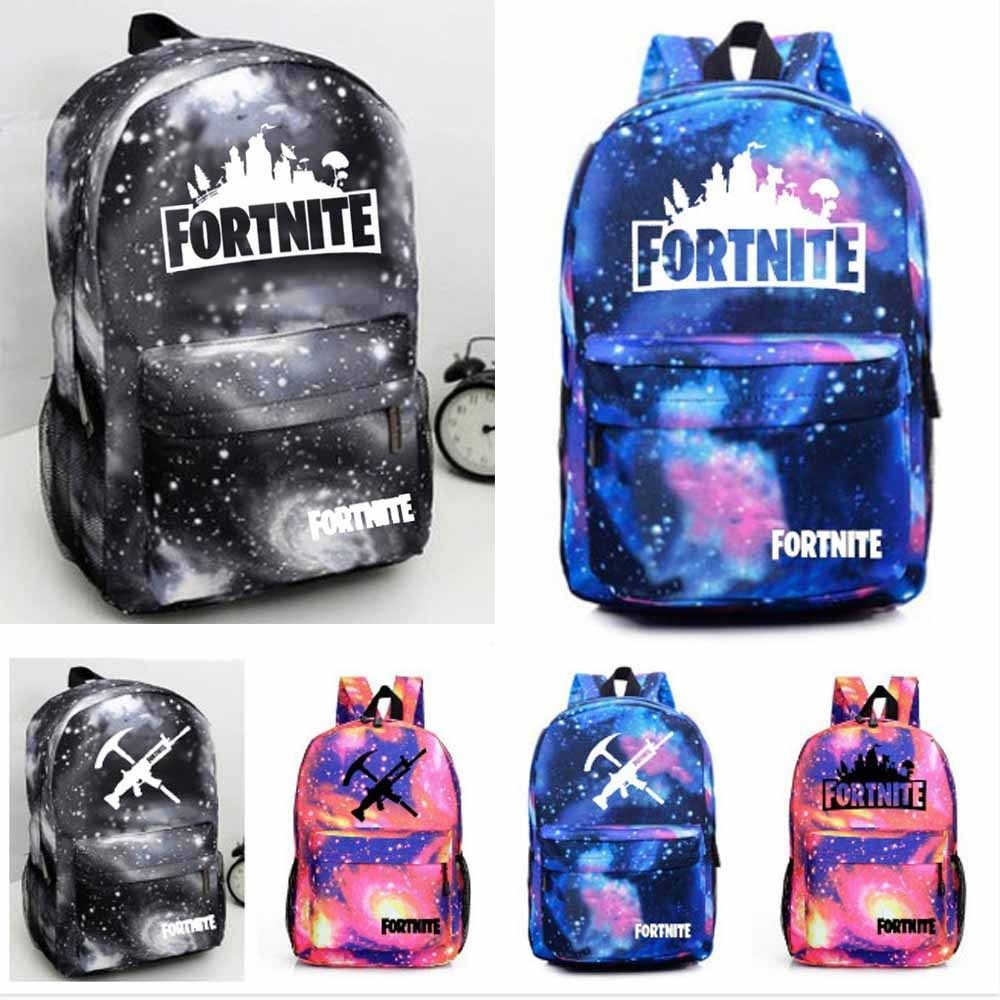 Fortnite Battle Royal Galaxy Student Backpack Book Bags