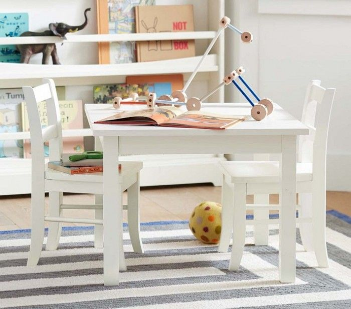 Kids Playroom Table And Chairs boys playroom white table and bookcase (add colored chairs) | for
