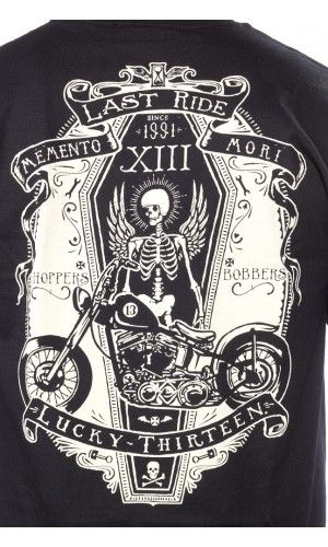 LUCKY 13 RIDE IN PEACE T SHIRT