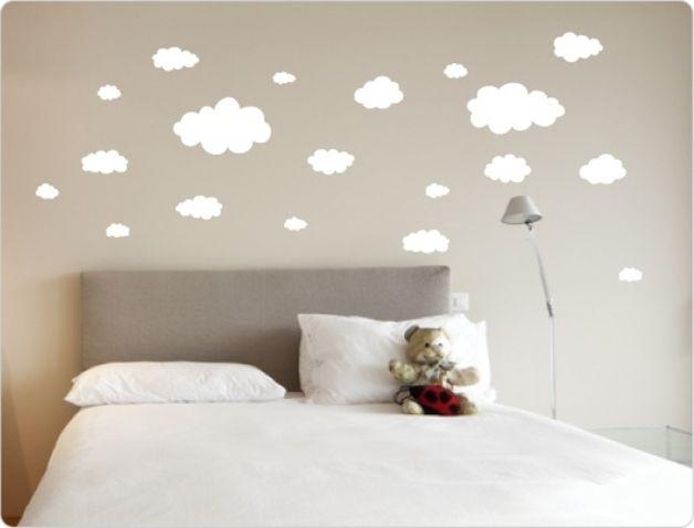 Schlafzimmer Wandtattoo ~ Wolken wandsticker cm schlafzimmer wandtattoo babies