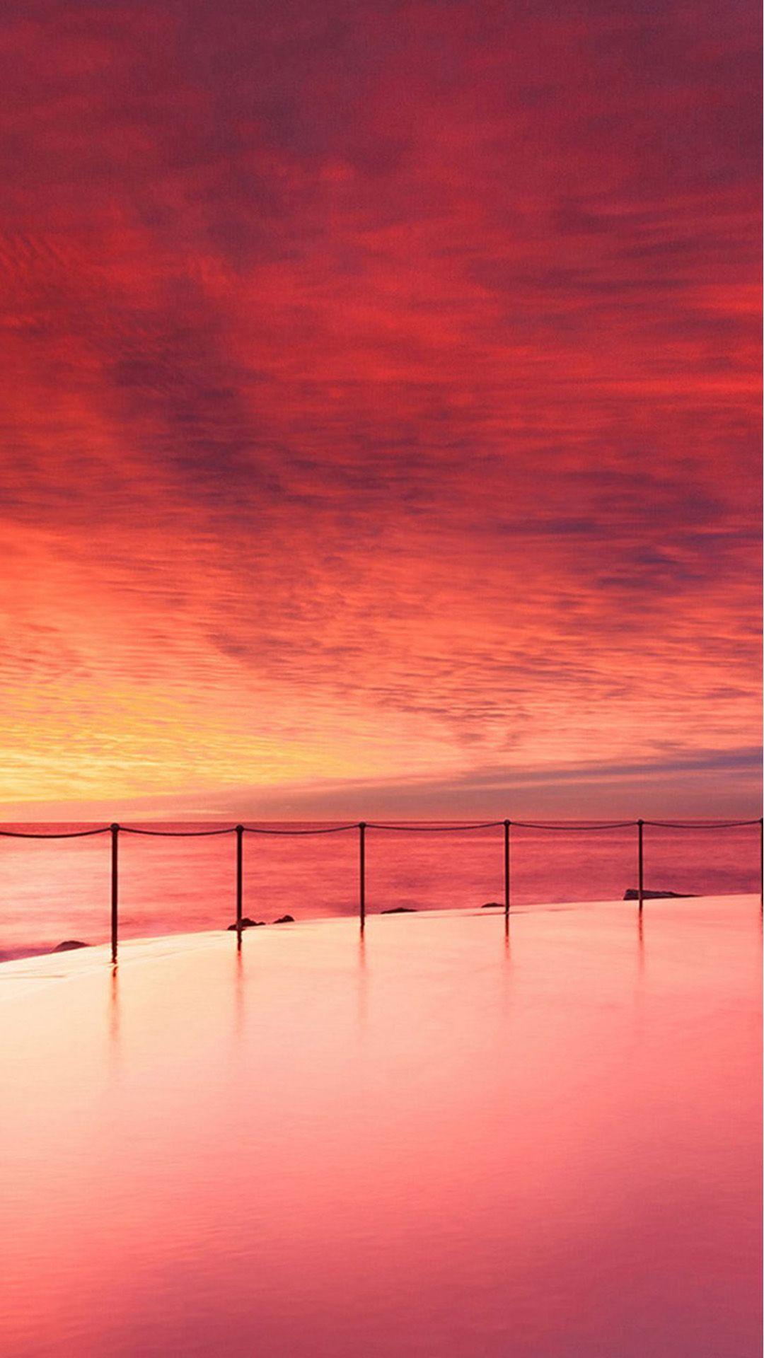 Wonderful Sunset Beautiful Beach Skyscape IPhone 6 Wallpaper