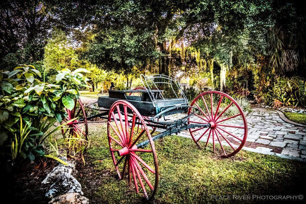 Delightful antique carriage at History Park Punta Gorda.