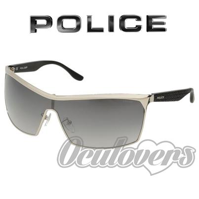 6bb9b85580f28 Um modelo imponente, assim se define o Brazen, este óculos de sol da Police!  Seguindo o estilo máscara, as lentes são em degradê com 100% de proteção UV!