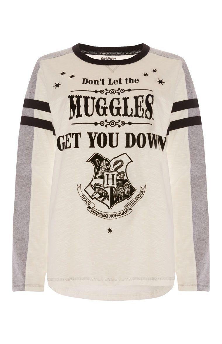 Harry Potter Women/'s Tshirt Tee Hogwarts Castle Black Primark Ladies Top