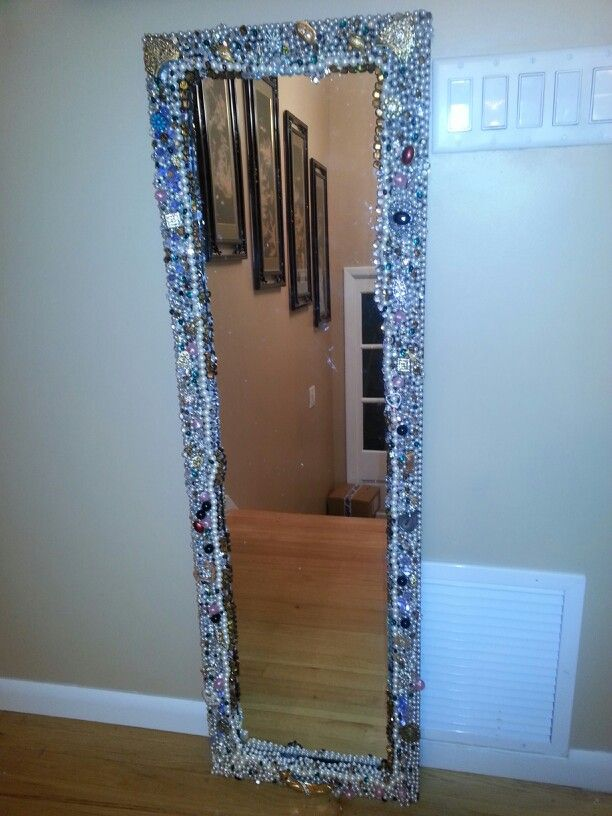 Jeweled Mirror Diy Jewelry Mirror Jewelry Mirror