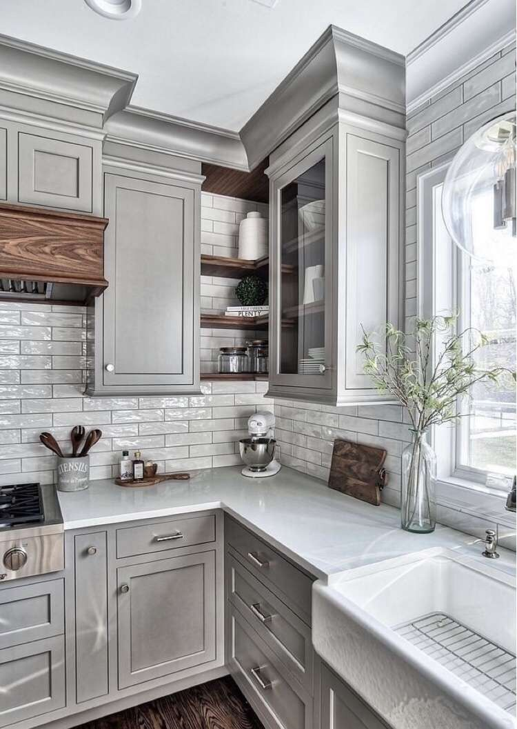 Pin By Begum Gl On Paris Kitchen Inspirations Rustic Kitchen Cabinets Kitchen Triangle