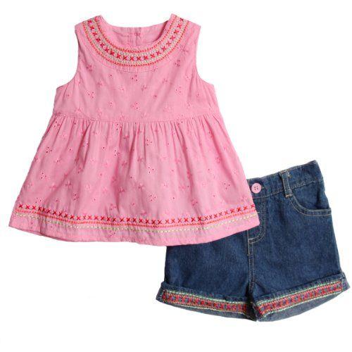 BT Kids Newborn Baby Girls 2 Piece Pink Eyelet Sleeveless Top Denim Jean Shorts bt kids,http://www.amazon.com/dp/B006VYOOM4/ref=cm_sw_r_pi_dp_t4rhtb1RB304SSPY