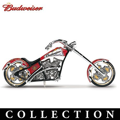 The Hamilton Collection Online Budweiser Motorcycle Motorcycle Figurine