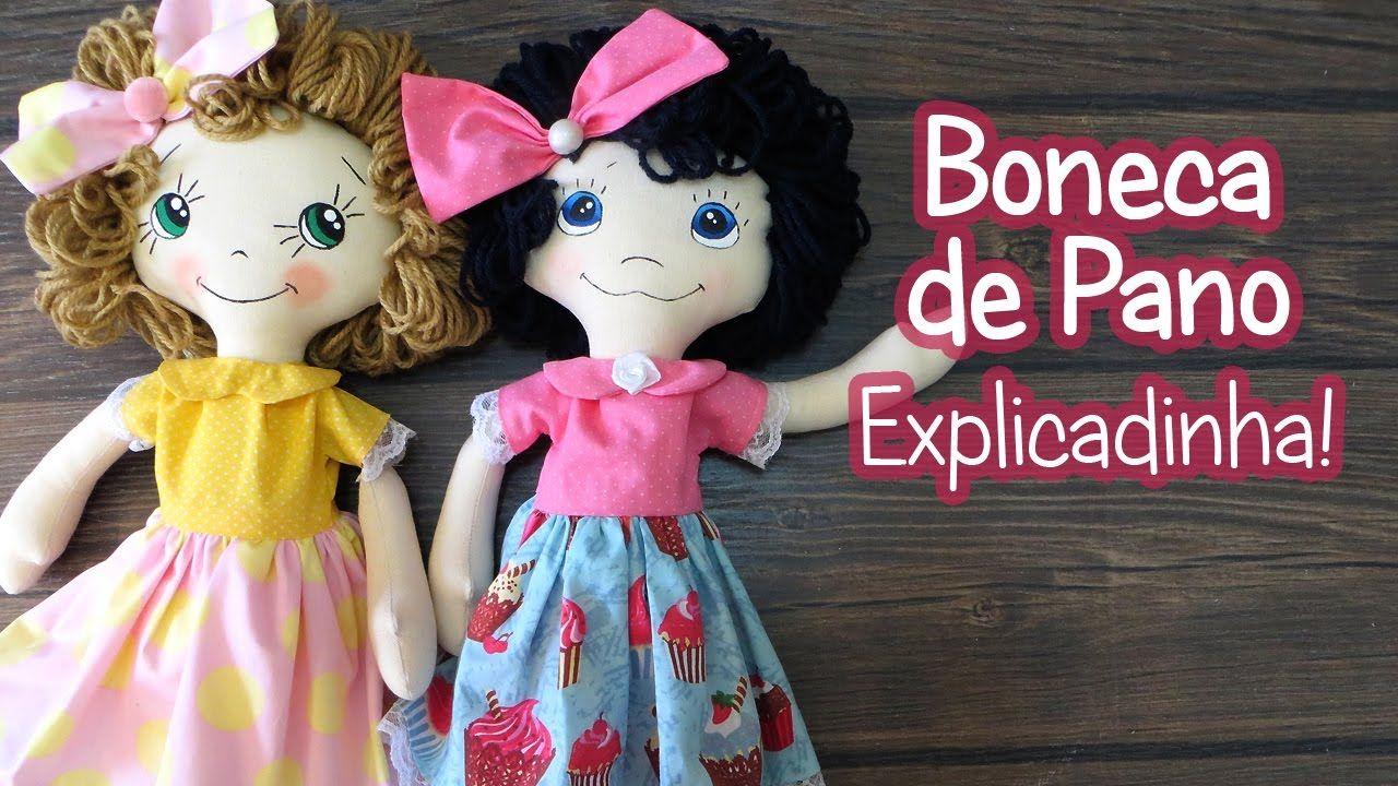 Boneca de Pano - Explicadinha! | BONECAS DE PANO | Pinterest