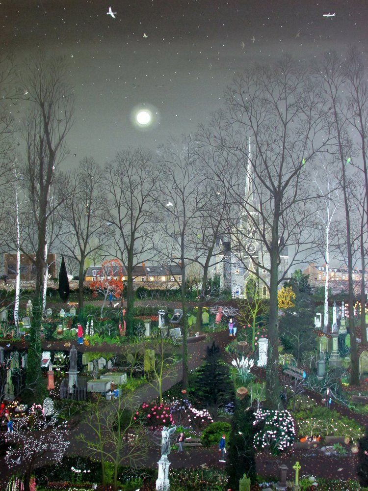 Abney Park by Moonlight by Emma Haworth