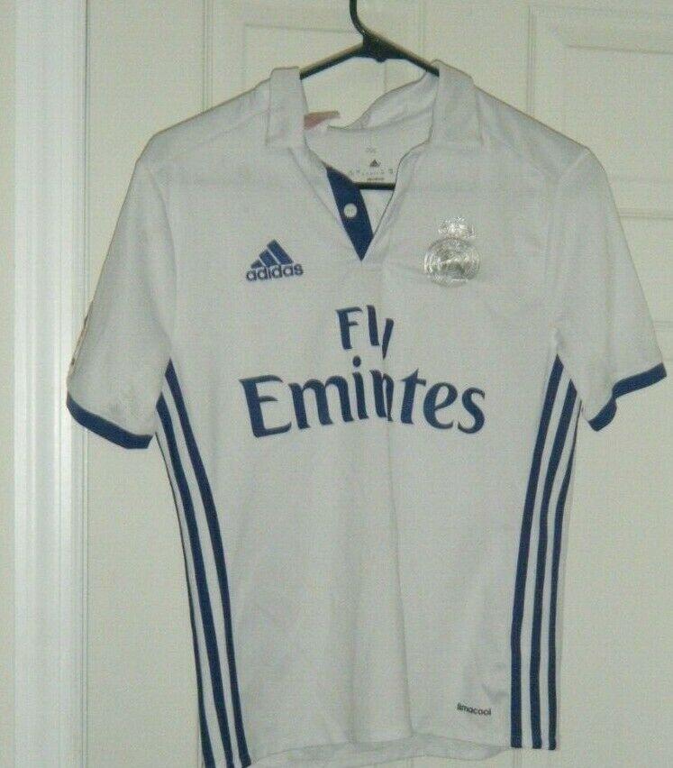 brand new 51e7b 96d43 Cristiano Ronaldo Real Madrid Adidas Jersey Boys L Soccer ...